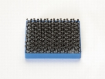 Duotec® with distance piece - 25x25x2,5mm - blue - 5pcs